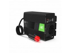 Menič napätia Green Cell Cell® 150W / 300W, 12V až 230V, napájací menič USB