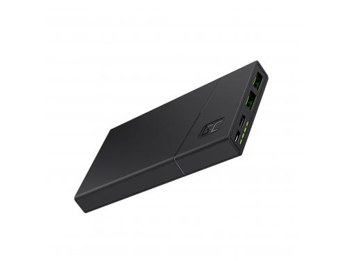 Power Bank Green Cell GC PowerPlay10 10 000 mAh s rýchlym nabíjaním 2x USB Ultra Charge a Power Delivery USB-C 18 W